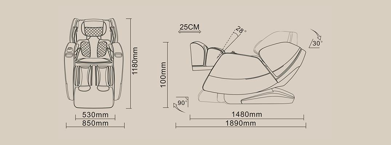 Komoder Veleta Chair Dimensions